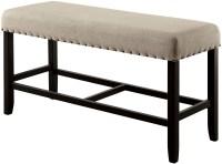 Sania Ii Antique Black Counter Height Bench, CM3324BK-PBN ...