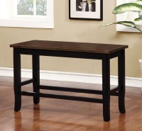 Dover II Black and Cherry Counter Height Bench from ...
