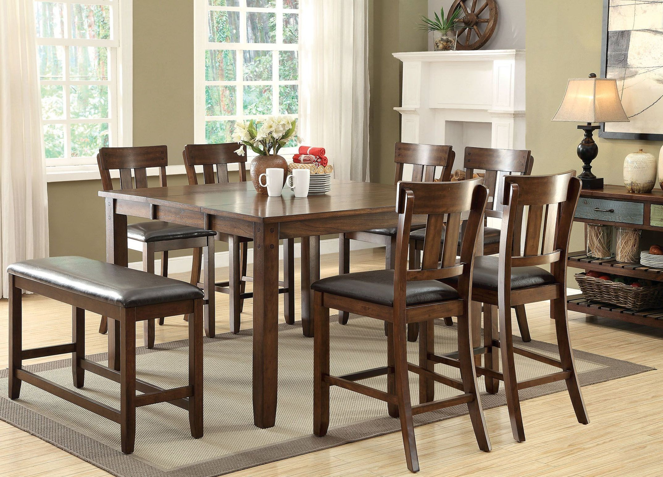 Dining Table Height Cm Brockton Ii Rustic Oak Extendable Counter Height Dining