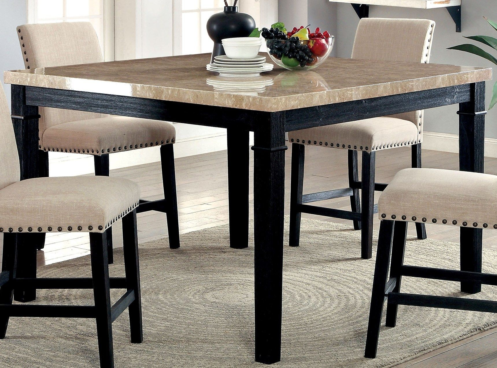 Dining Table Height Cm Dodson Ii Black Counter Height Dining Table From Furniture