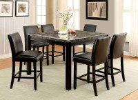 Gladstone I Gray Marble Top Counter Height Dining Room Set ...