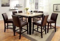 Gladstone II Marble Top Counter Height Dining Room Set ...