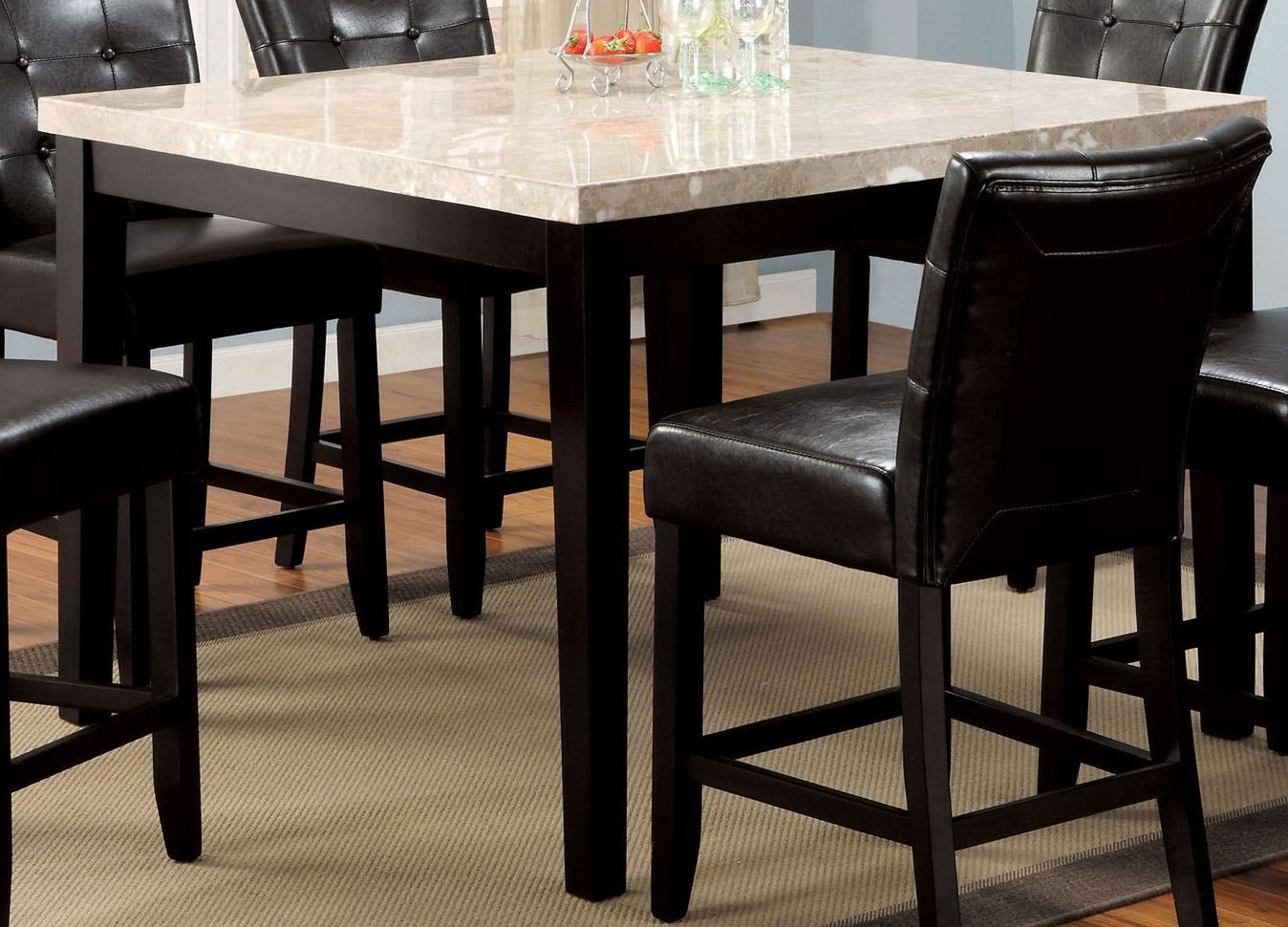 Marion Ii Marble Top 48quot Square Counter Height Table From