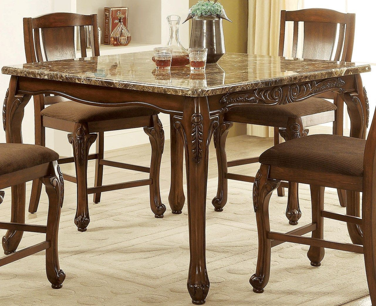 Dining Table Height Cm Johannesburg Brown Cherry Counter Height Dining Table From