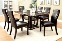 Clayton I Dark Cherry Rectangular Pedestal Dining Room Set ...