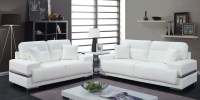 Zibak White Living Room Set from Furniture of America ...
