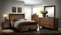 Elkton Oak Platform Storage Bedroom Set, CM7072Q