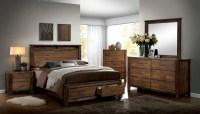 Elkton Oak Platform Storage Bedroom Set, CM7072Q ...