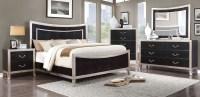 Liza Silver Panel Bedroom Set, CM7264Q, Furniture of America