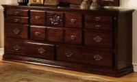 Tuscan II Glossy Dark Pine Poster Bedroom Set from ...