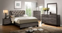 Manvel Dark Gray Upholstered Bedroom Set from Furniture of ...