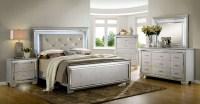 Bellanova Silver Upholstered Panel Bedroom Set, CM7979SV-Q ...