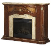 Cortina Marble Top Fireplace With Electric Fireplace ...