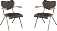 Vintage Metal Rustic Dining Chair Set of 2 from Avalon ...