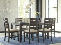 Rokane Brown 7 Piece Dining Room Set, D397-425, Ashley