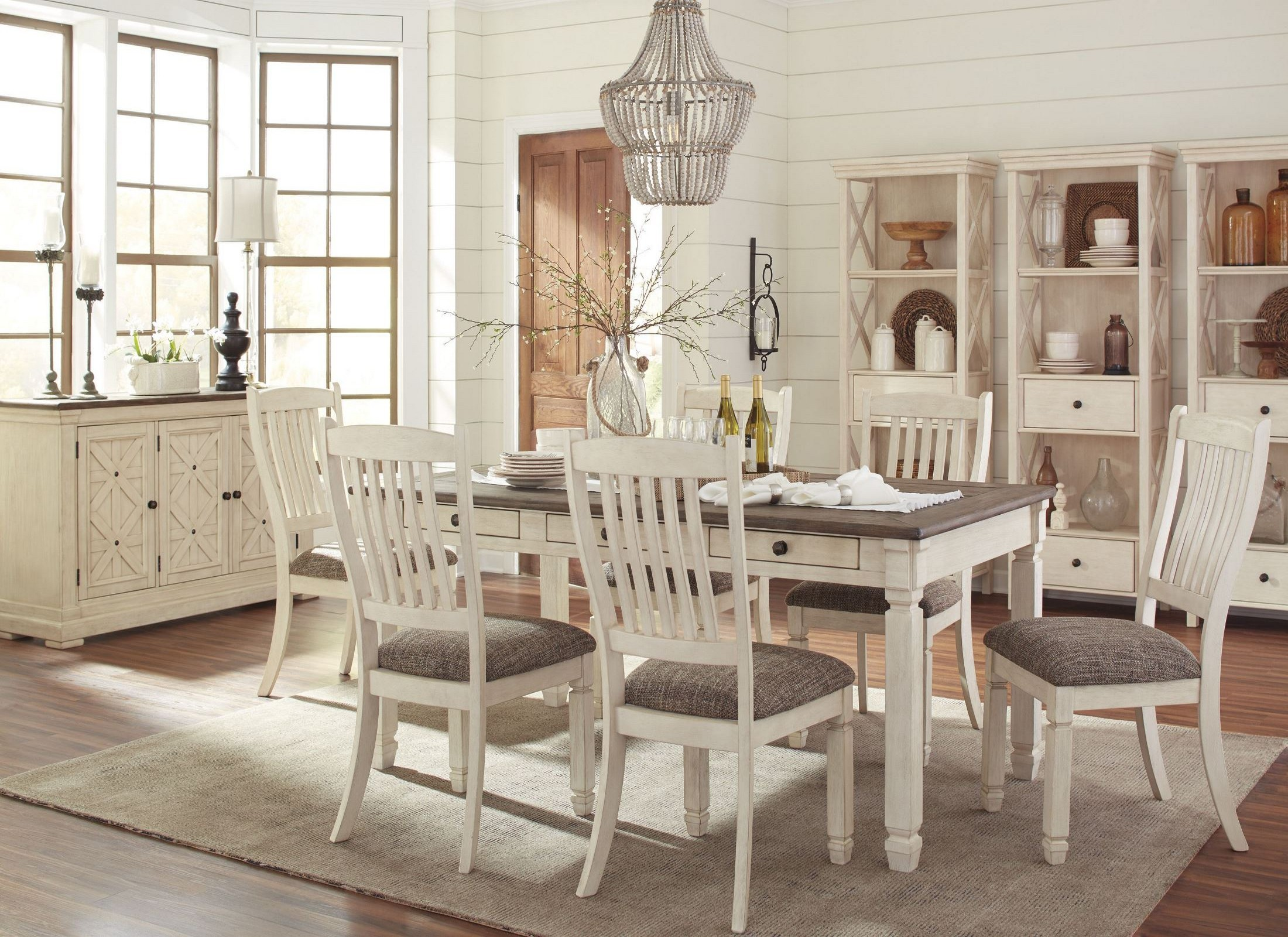 White Dining Table Set Bolanburg White And Gray Rectangular Dining Room Set From