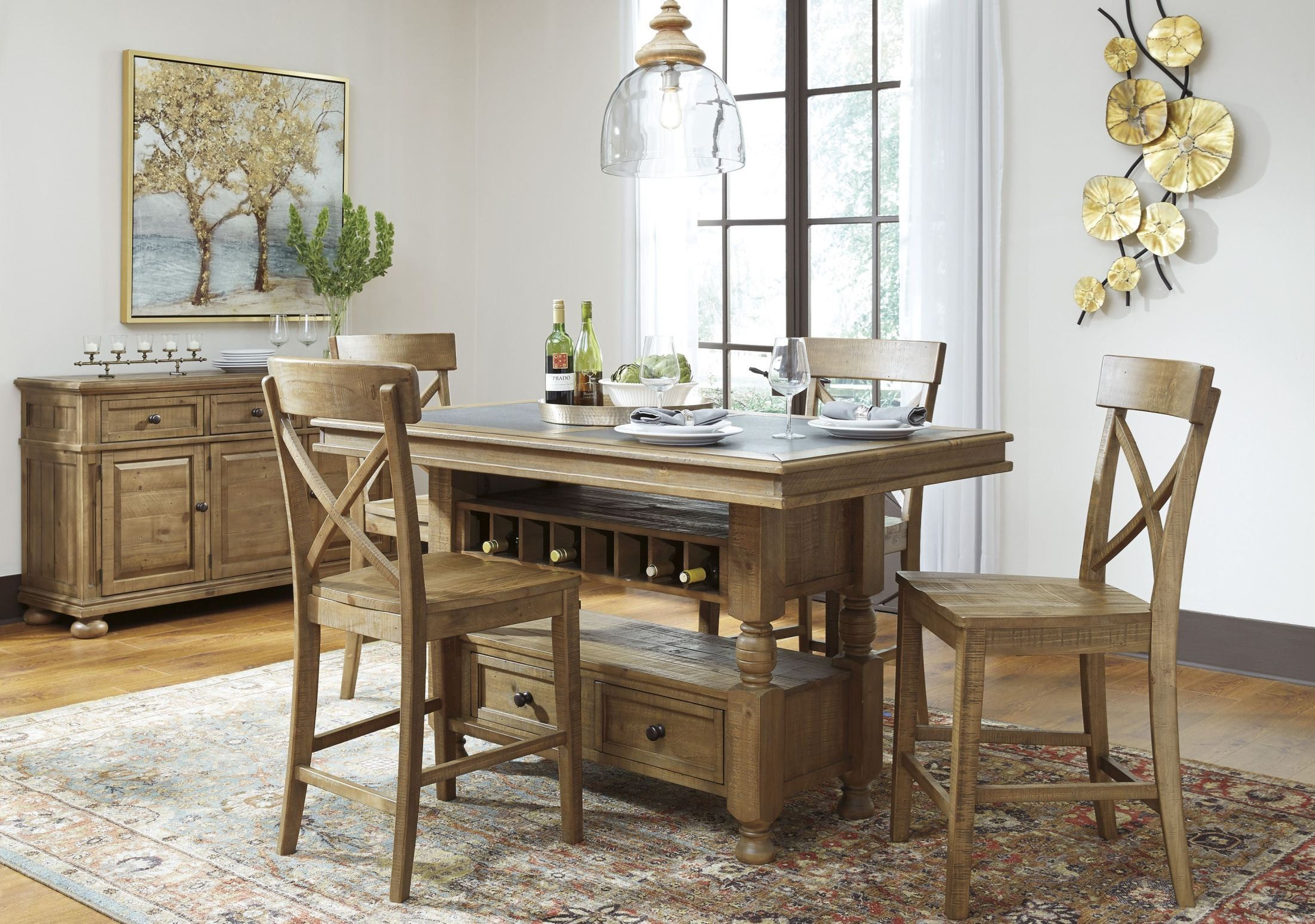 Square Dining Table With Storage Trishley Light Brown Rectangular Storage Counter Height