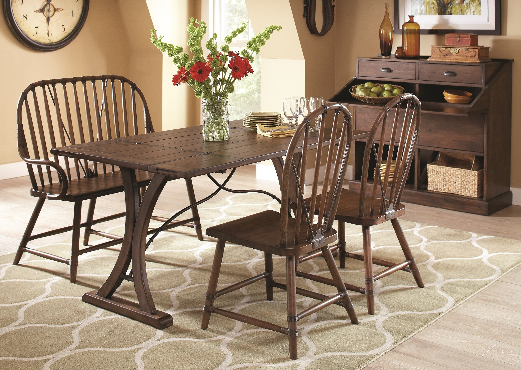 Folding Dining Room Set New Bedford Folding Top Dining Room Set From Largo D682