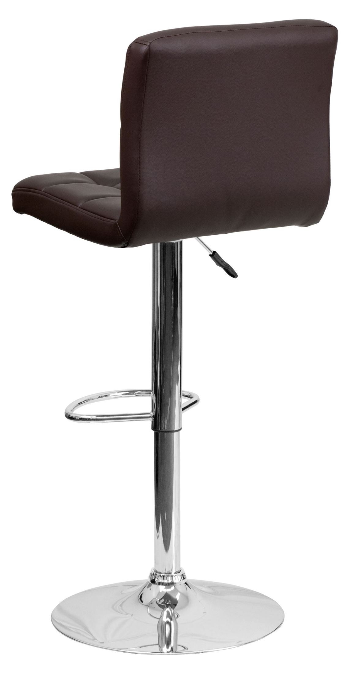 Brown Adjustable Bar Stool Brown Quilted Vinyl Adjustable Height Bar Stool From