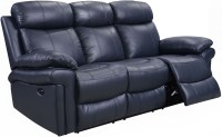 Shae Joplin Blue Leather Power Reclining Sofa from Luxe ...