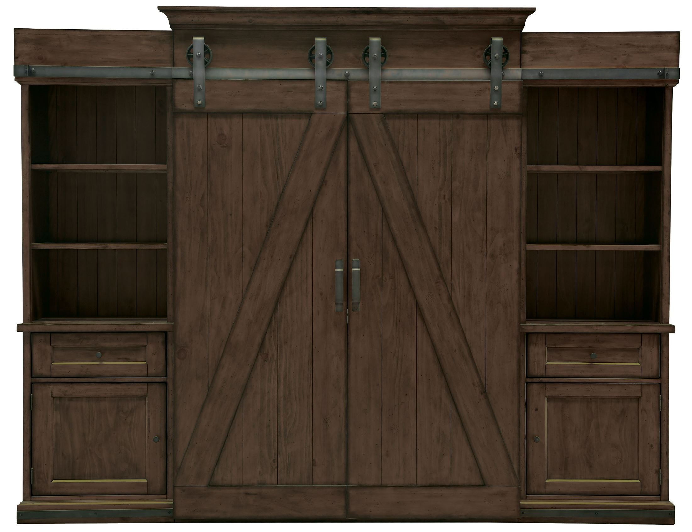 Pine Entertainment Unit Fraser Warm Rustic Pine Wood Entertainment Wall Unit From