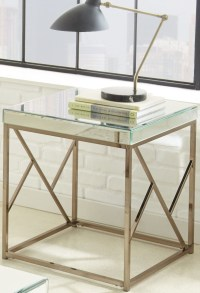 Evelyn Chrome End Table, EV200E, Steve Silver