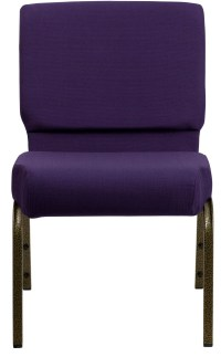 Hercules Series Extra Wide Royal Purple Stacking Church ...