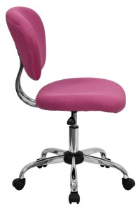 Mid-Back Pink Mesh Task Chair from Renegade (H-2376-F-PINK ...