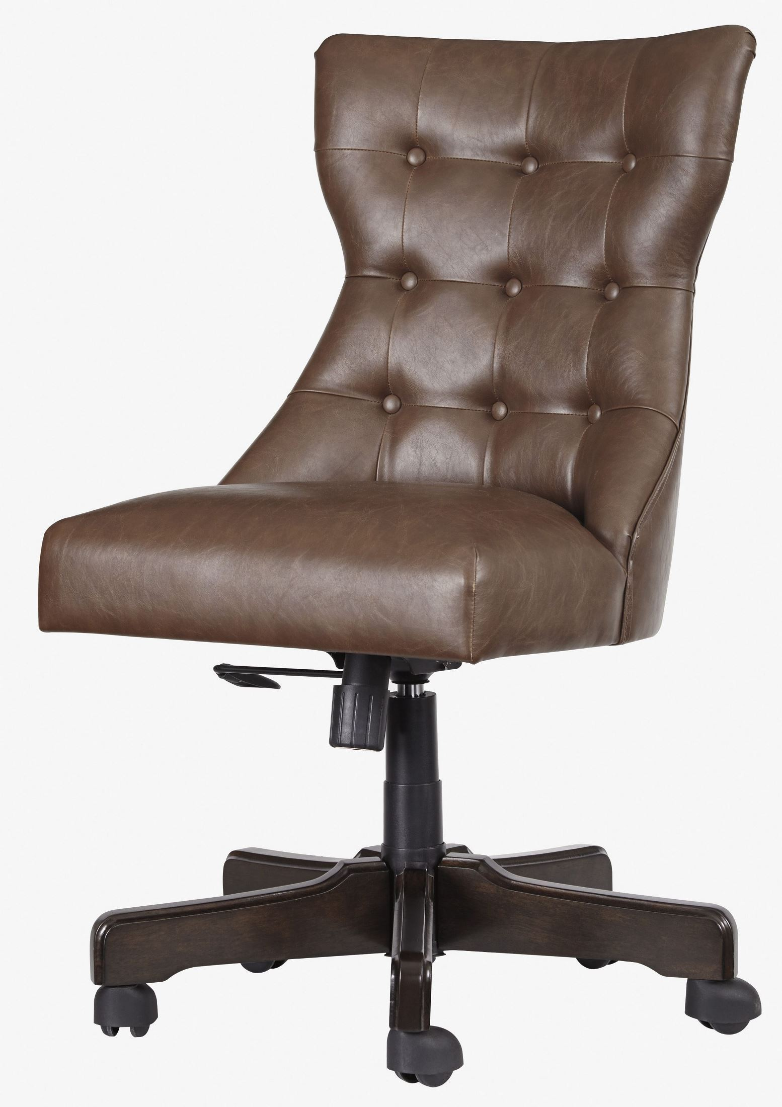 Desk Chairs Brown Home Office Swivel Desk Chair From Ashley Coleman