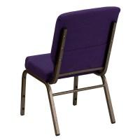 "Hercules Series 18.5"" Wide Royal Purple Fabric Stacking"
