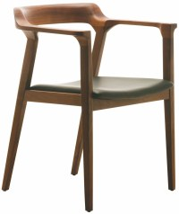 Caitlan Tan Walnut Leather Dining Chair from Nuevo ...