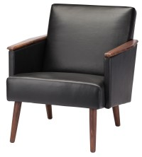 Jasper Black Leather Occasional Chair, HGEM636, Nuevo