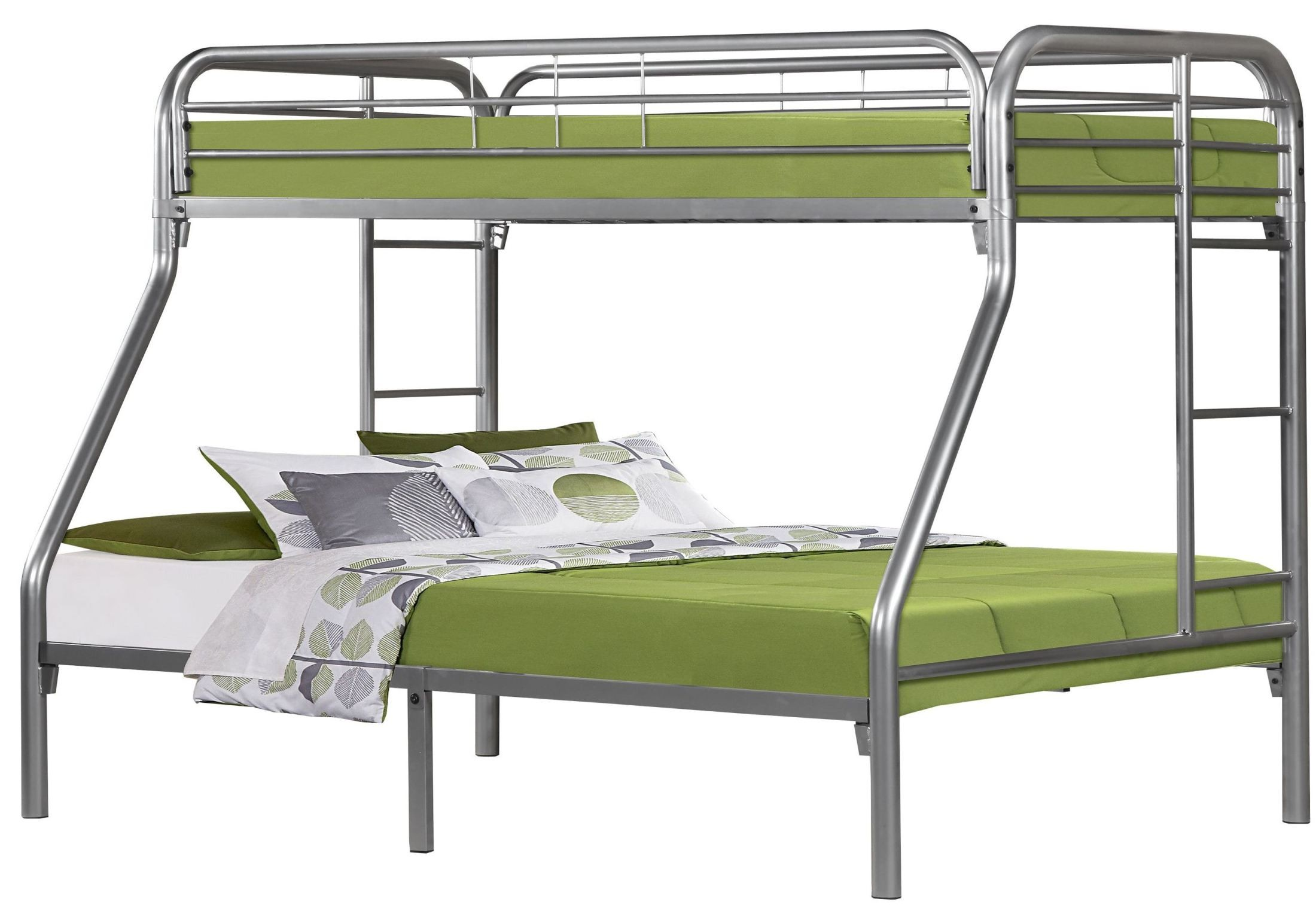 Silver Metal Twin Over Full Bunk Bed from Monarch (2231S