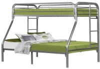 Silver Metal Twin Over Full Bunk Bed from Monarch (2231S ...
