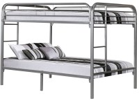 Silver Metal Full Over Full Bunk Bed from Monarch (2233S ...