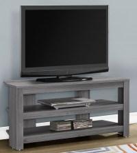 "Grey 42"" Corner TV Stand, 2566, Monarch"