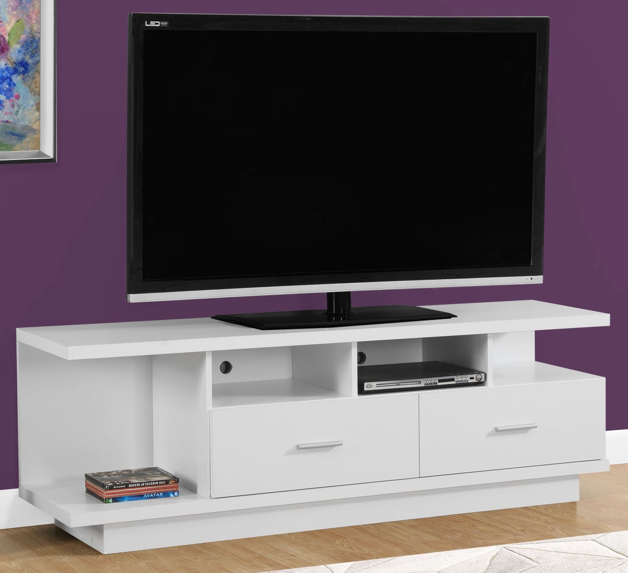 White Tv Stand 2676 White 60 Quot Tv Stand From Monarch Coleman Furniture