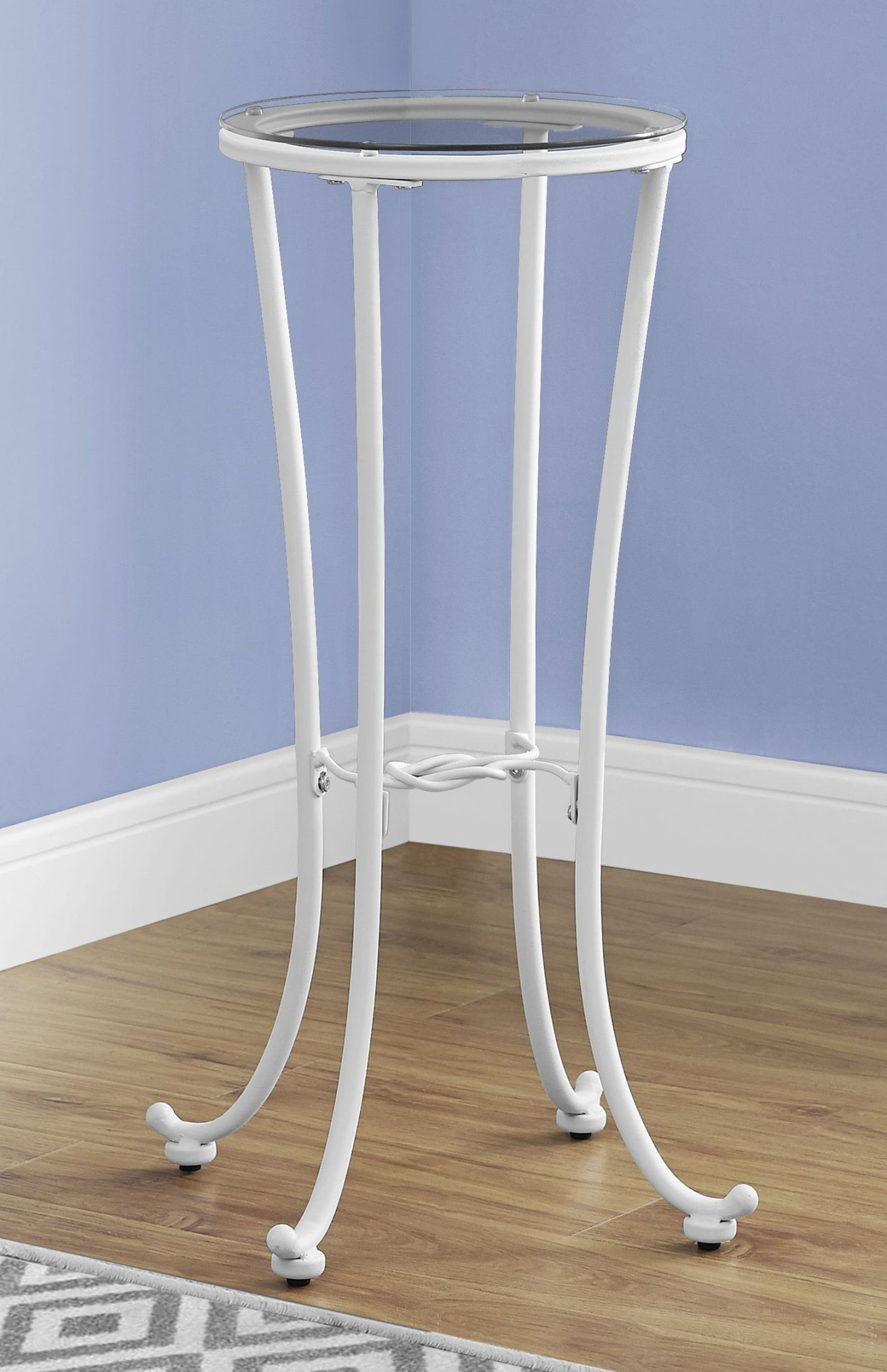 White Metal End Table White Metal Accent Table From Monarch Coleman Furniture
