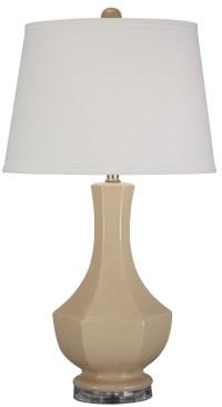 Suellen Beige Ceramic Table Lamp from Ashley (L100414 ...