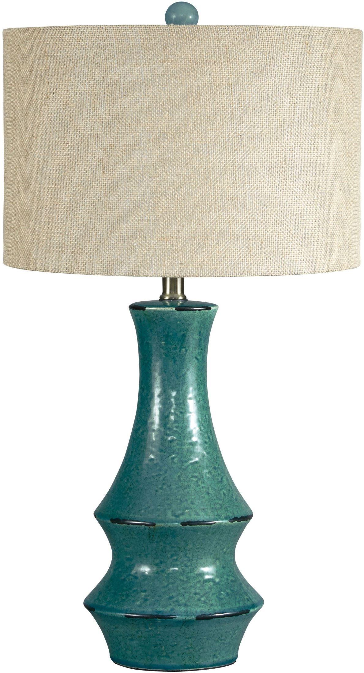 Jenci Antique Teal Ceramic Table Lamp, L100584, Ashley