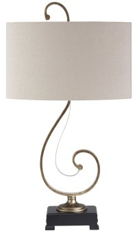 Tahir Antique Silver Metal Table Lamp from Ashley (L208014 ...