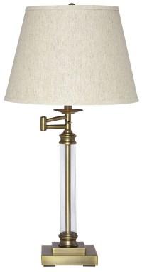 Arwel Antique Brass Glass Table Lamp, L734184, Ashley