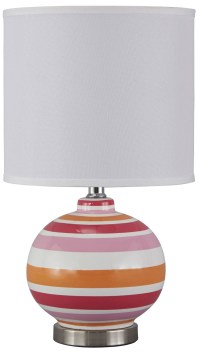 Sirene Pink & Orange Ceramic Table Lamp from Ashley ...