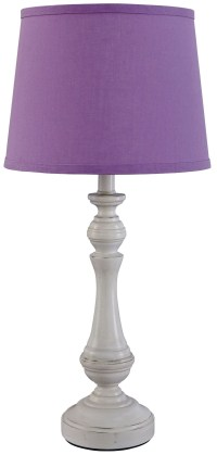 Kian White & Purple Poly Table Lamp from Ashley (L857554 ...