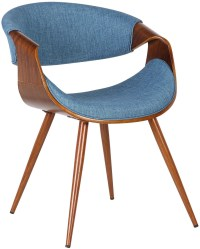 Butterfly Mid-Century Blue Dining Chair Set of 2 from ...