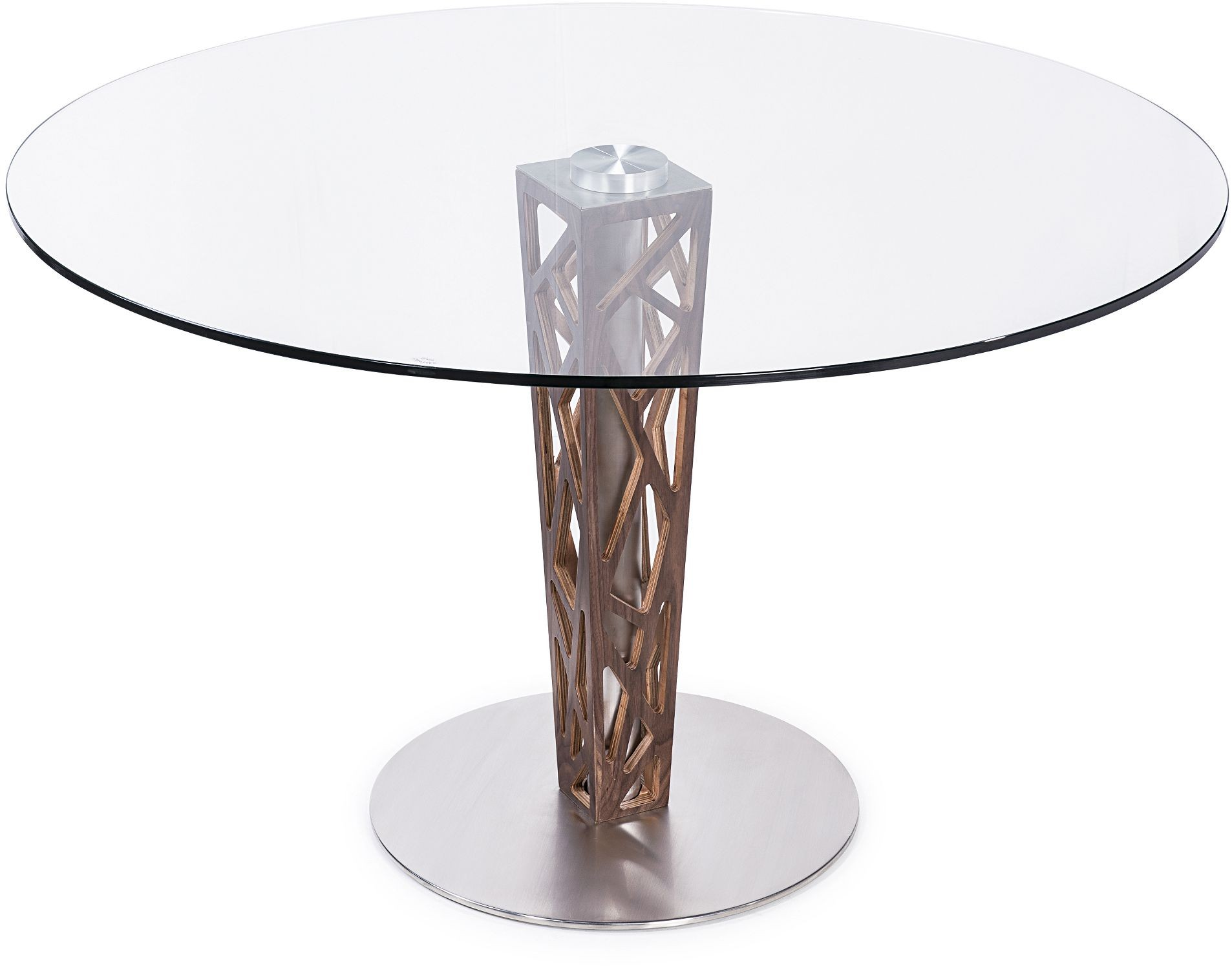 Round Glass Dining Table Crystal 48 Quot Clear Tempered Glass Top Round Dining Table