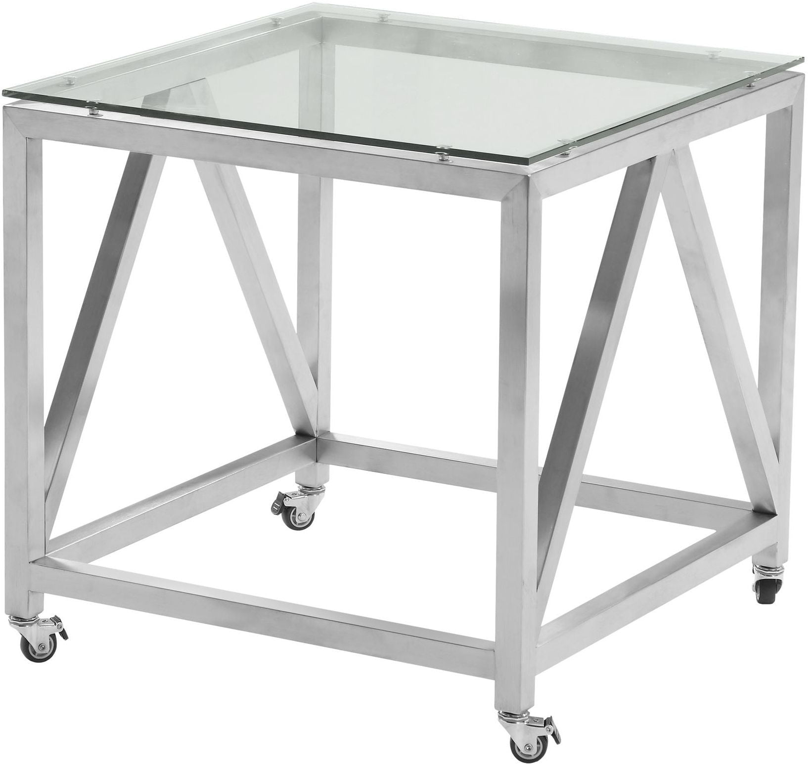 Square Glass End Tables Enessa Tempered Glass Top Square End Table From Armen
