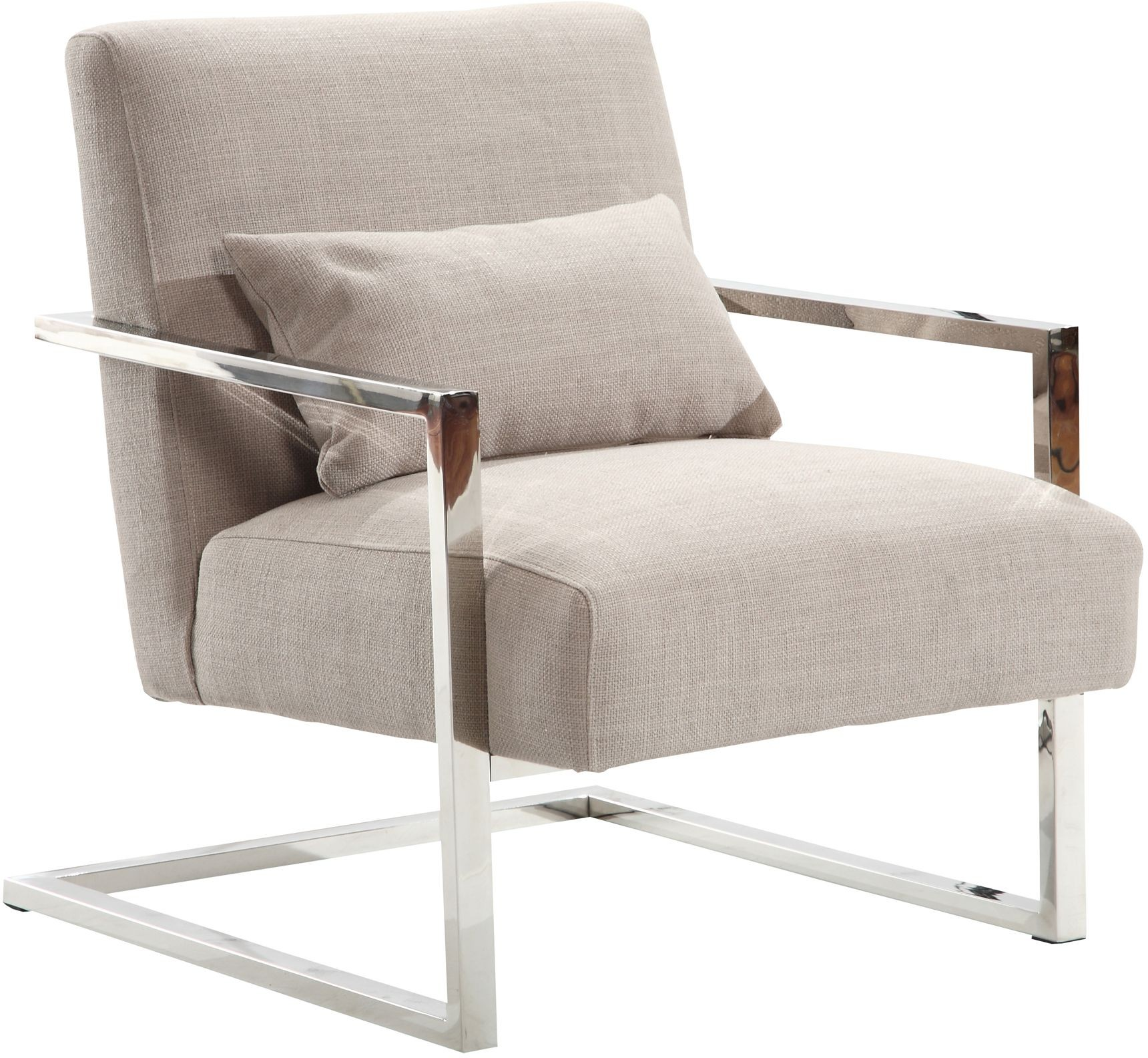 Modern Accent Chairs Skyline Modern Gray Linen And Steel Accent Chair From