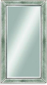 Beaded Silver Leaf Wood Frame Wall Mirror, M1946BEC