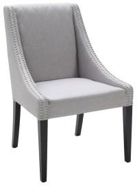 Malabar Dining Chair Fabric in Silver Linen from Sunpan